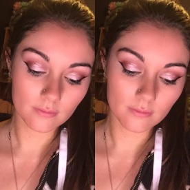 pink sparkle shiny makeup girly cute