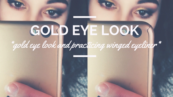 Gold Eye Look