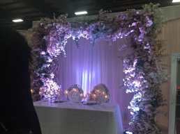sweetheart table floral arch